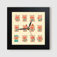 ct855-동물들의귀여운감정표현_미니액자벽시계