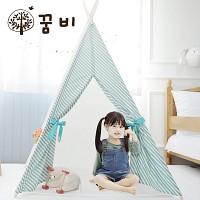 [꿈비 인디언텐트] 북유럽 롤리팝 4각 / 플레이하우스 아기텐트 놀이텐트