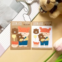 [람찌네소품샵] 애착 곰인형 미니 리무버블 스티커