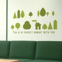 작은숲 (북유럽풍 나무) - 반제품A타입 그래픽스티커