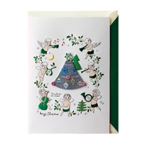 크리스마스카드/성탄절/트리/산타 천사들의 크리스마스(FS203-6)