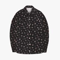 [오알오알] 플라워 패턴 코듀로이 셔츠 블랙 R1-003