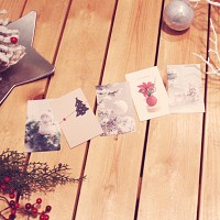 MERRY PHOTO CARD 5종+크라프트봉투 set   (크리스마스카드)