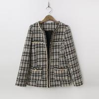 Tweed Wool Puff Jacket
