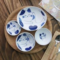 일본식기 블루네코 반상세트