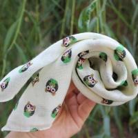 mini 스카프 - 손수건 (새벽 부엉이)