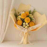 목화 비누꽃 퐁퐁수국꽃다발 [2color]
