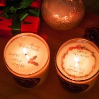 bling bling 크리스마스 메시지 캔들 200g(포장 + 쇼핑백 포함)