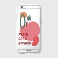 [어프어프] 젤리케이스 Peach draw