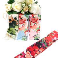 [더로라] 실크 트윌리 스카프 - 수채화 꽃여행 S7150