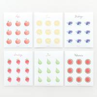 과일 원형 스티커