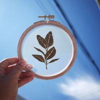 프랑스자수 투명자수액자 DIY 키트 - 고무나무