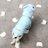 [펫딘]별 리본 똑딱이 페이크퍼 강아지옷 패딩조끼 SB E003