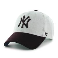 47브랜드 MLB모자 양키즈 울 그레이/네이비
