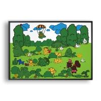동물의 왕국 숲 / 일러스트 액자