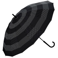 wpc우산 도트 보더 남자여자 장우산 MST-044