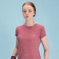 여성 스포츠 슬림핏 티셔츠 DFW5009 버건디
