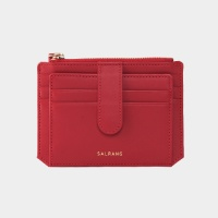 Dijon 301S Flap Card Wallet cherry red