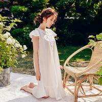 [쿠비카]캡 소매 줄기 레이스 원피스 여성잠옷 W326