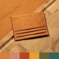 이니셜 각인 베지터블 가죽 카드지갑 6종 색상