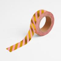 [인디고샵] [금박] 핑크 스트라이프 마스킹 테이프