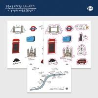 MY LOVELY LONDON (드로잉 엽서, 미니 엽서, 스티커 세트)