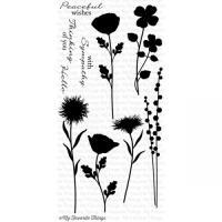 클리어 스탬프 LJD Grand Peaceful Wildflowers