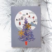 FS1030-4 크리스마스카드,트리,산타,성탄절