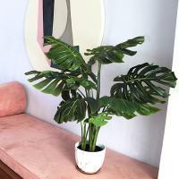 인테리어 데코 거실 인조 나무 조화 화분 (몬스테라)