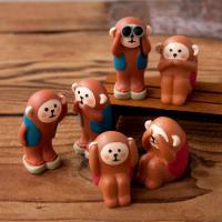 데꼴 2016 원숭이 피규어 3종 세트 신년 한정판
