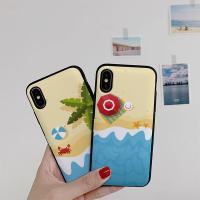 아이폰8플러스 써니 해변 카드케이스