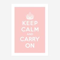 Keep Calm 킵캄 핑크 포스터 - A1 A2 A3 A4