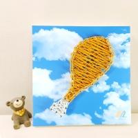 꼬마 치킨 스트링아트 만들기 패키지 DIY (EVA)