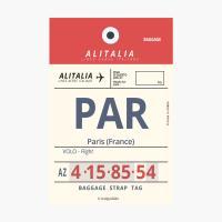 에어라인택 포스트카드 엽서 - Paris