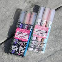 [KOKUYO] 펜 하나에 두개의 색상이..일본 고쿠요 Dual 형광펜-비틀팁 3색세트 HC454