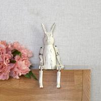 관절 목각 토끼(화이트 중)