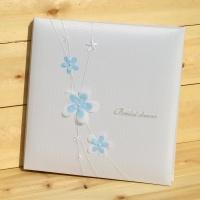 [Nakabayashi] 패브릭+입체장식의 백년대지 고급 접착앨범..일본 나카바야시 웨딩앨범 HF502-1