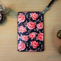 Vintage card case (Navy Flower)
