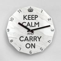 리플렉스 KEEP CALM AND CARRY ON 12각 무소음벽시계 KP12MBW