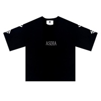 ASIHA 건곤감리 1/2 티셔츠 Black