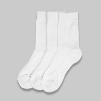 [3PACK] 순백컬러 히트상품 1507 SNOW WHITE ATHLETIC SOCK - WHITE
