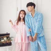 [쿠비카]극세사 바니램 커플 투피스(핑크)잠옷 WM060