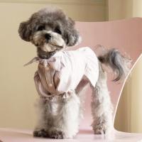 강아지옷 바네사 리본 블라우스 2컬러