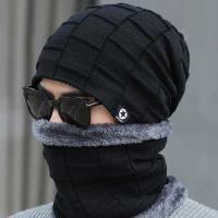 Winter MAN Knit 짜임 비니 넥워머세트 5color