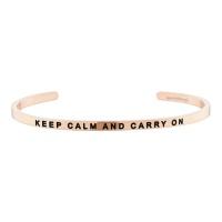 [만트라뱅글] KEEP CALM AND CARRY ON - 로즈골드