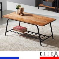 ELLE 엘르 오동나무원목 스틸 선반수납 테이블 TR003