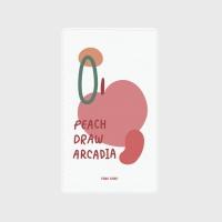 [어프어프] 보조배터리 Peach draw-white