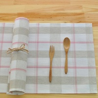 심플린넨 방수식탁매트(핑크)