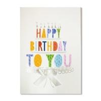 홀마크 생일 축하 카드(3단케이크)-KED2210