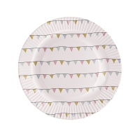 [Blooming]Paper Plates with Flags종이접시21213921
